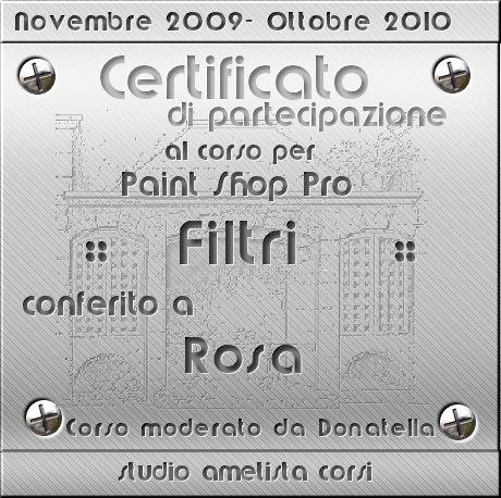 Diploma filtri Ametista
