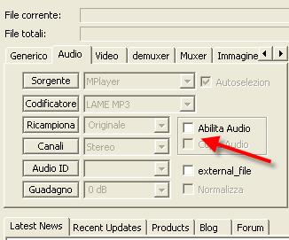 Togliere Traccia Audio